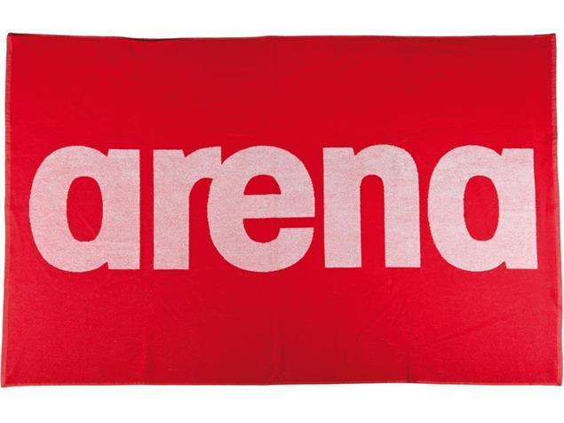 Arena Handy Baumwoll Handtuch 150x100 cm - red/white