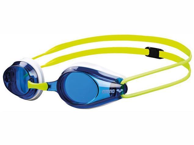 Arena Tracks Junior Schwimmbrille - white-fluoyellow/blue