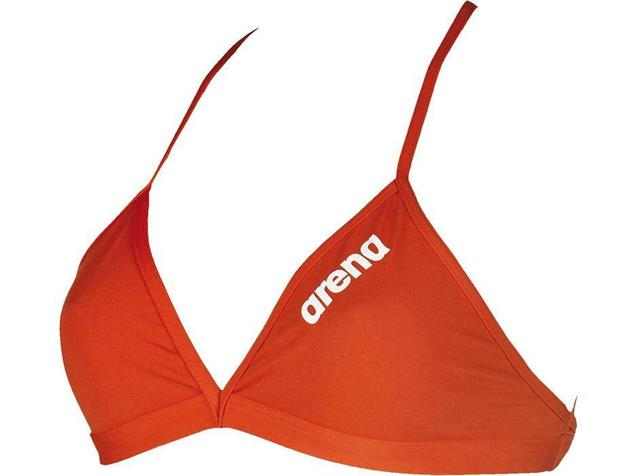 Arena Solid Tie Back Top Schwimmbikini Oberteil - 38 red/white