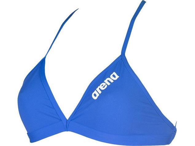 Arena Solid Tie Back Top Schwimmbikini Oberteil - 34 royal/white