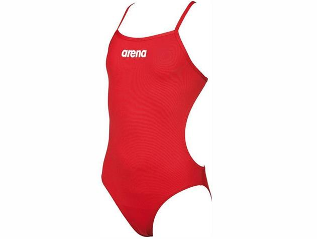 Arena Solid Youth Mädchen Badeanzug Light Tech Back - 128 red/white