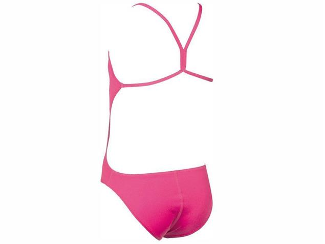 Arena Solid Youth Mädchen Badeanzug Light Tech Back - 140 fresia rose/white