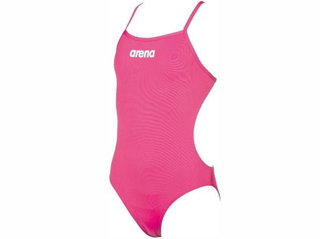 Arena Solid Youth Mädchen Badeanzug Light Tech Back - 152 fresia rose/white
