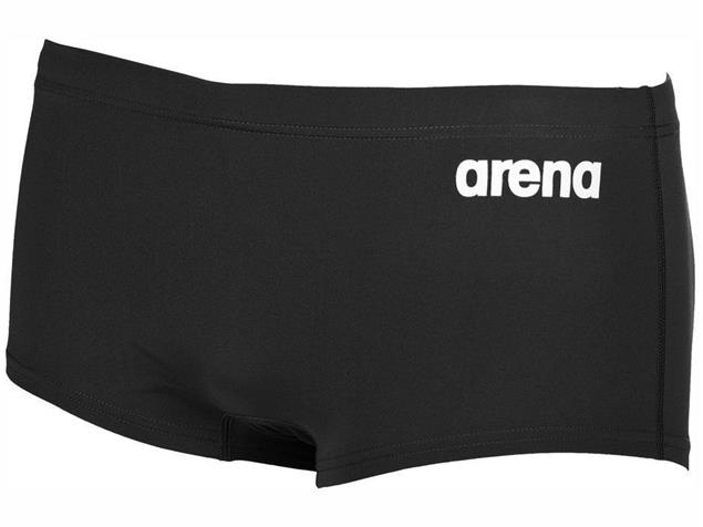 Arena Solid Squared Short Badehose Low Waist - 8 black/white