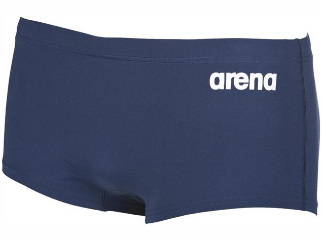 Arena Solid Squared Short Badehose Low Waist - 8 red/white