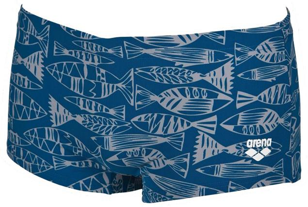 Arena Fisk Low Waist Short Badehose - 3 deep sea/frost grey