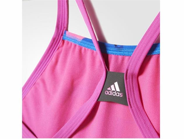 Adidas Clubline Plus Grafik Badeanzug X-Back Thin Straps, Infinitex+ - 40 navy/shock pink