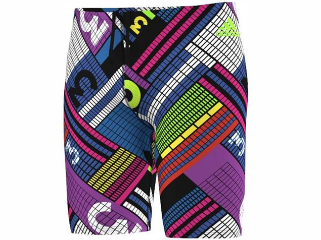 Adidas Clubline Pulse Grafik Jammer Badehose 44 cm, Infinitex+ - 4 black/shock purple