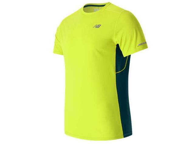 New Balance Ice Short Sleeve Laufshirt - L firefly