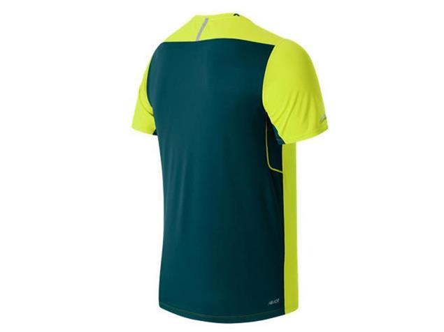 New Balance Ice Short Sleeve Laufshirt - XL firefly