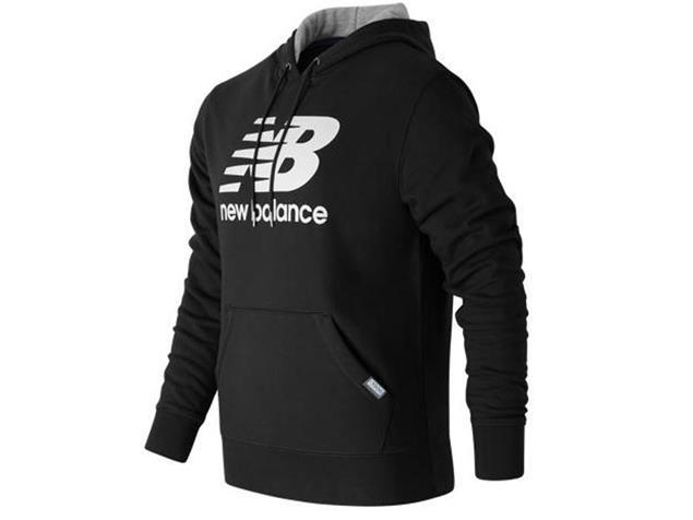 New Balance Logo Hoodie Sweatshirt - S black