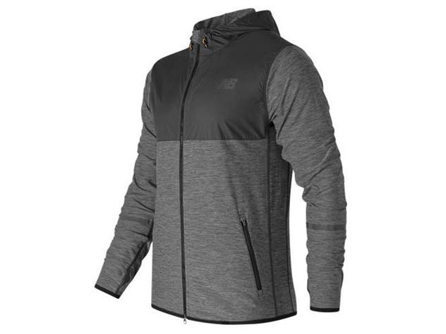 New Balance NTransit Hoodie Men black/heather - L black/heather