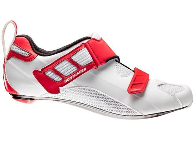 Bontrager Woomera Triathlon Schuh - 45 white/red