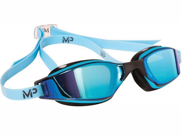 MP Michael Phelps XCEED Titan Mirror Schwimmbrille Aqua Sphere - blue-black/blue