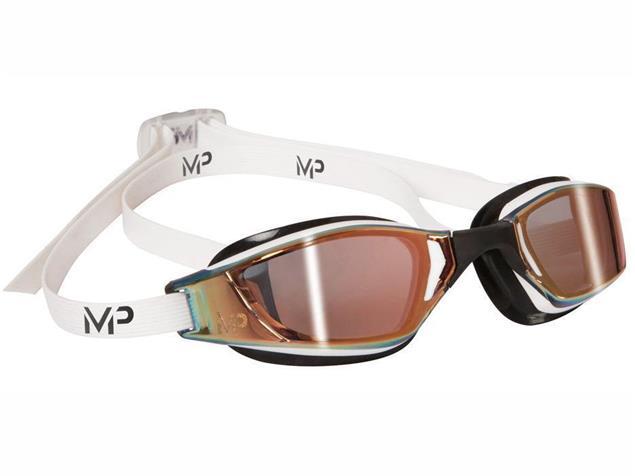 MP Michael Phelps XCEED Titan Mirror Schwimmbrille Aqua Sphere - white-black/gold