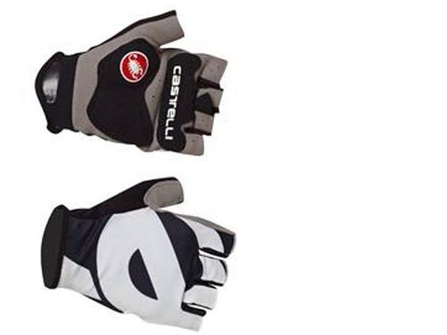 Castelli Cervelo é Sommer Handschuhe - L black/white/grey