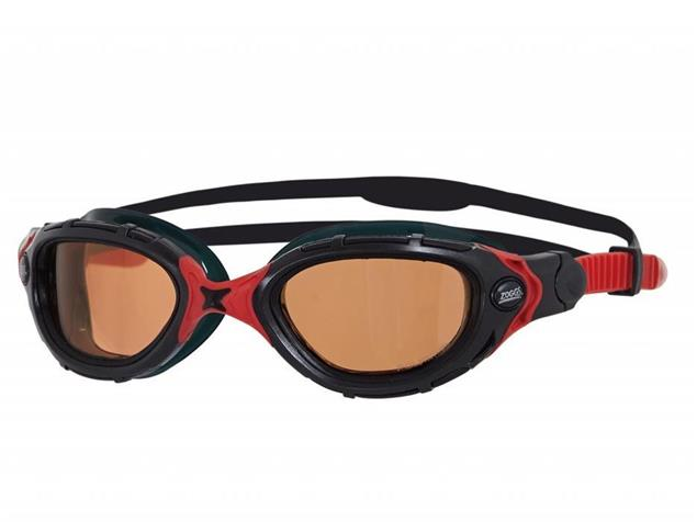 Zoggs Predator Flex Polarized Ultra Schwimmbrille black-red/polarized
