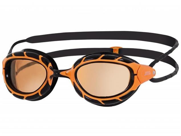 Zoggs Predator Wiro-Frame Polarized Schwimmbrille orange-black/polarized ultra