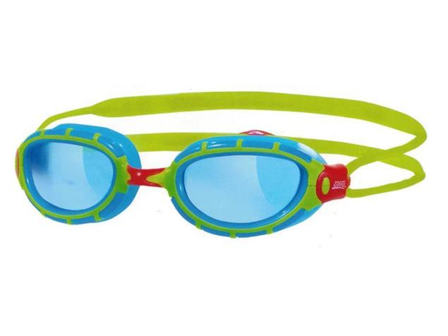Zoggs Predator Junior Schwimmbrille - green-light blue/tinted blue