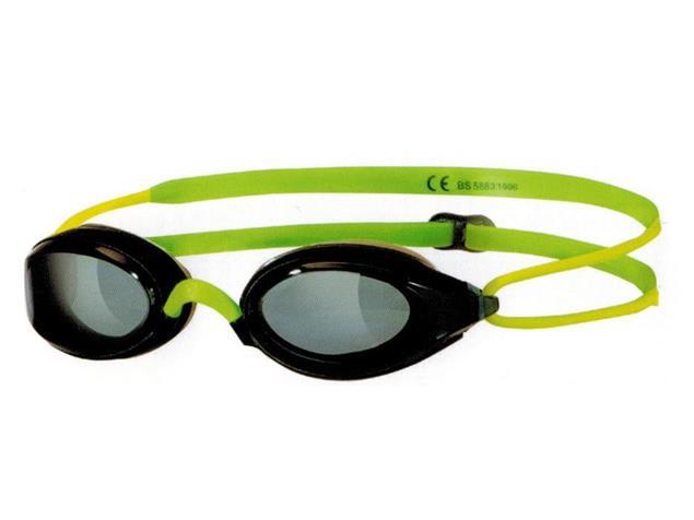 Zoggs Fusion Air Junior Schwimmbrille - black-green/smoke