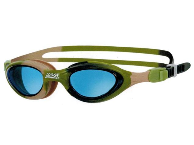 Zoggs Super Seal Junior Schwimmbrille - green camo/tinted blue