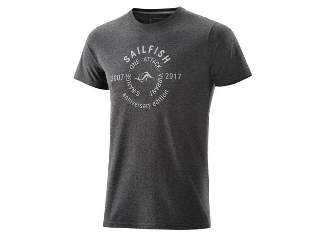 Sailfish Lifestyle Mens T-Shirt Anniversary - S anthracite