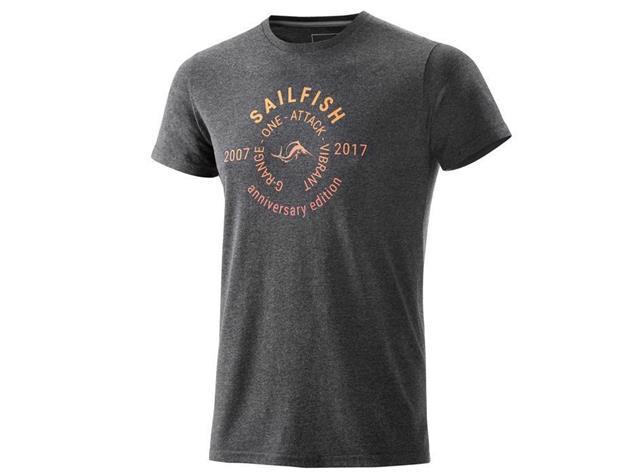 Sailfish Lifestyle Mens T-Shirt Anniversary - XS anthracite-sun