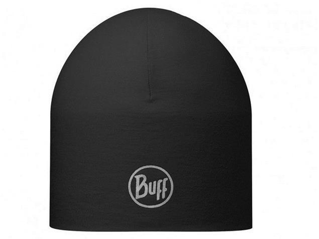 Buff Coolmax Reversible Reflective Mütze - solid black