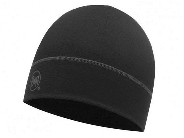 Buff Merino 1 Layer Mütze - solid black
