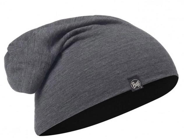Buff Merino Wool Solid Mütze - solid grey