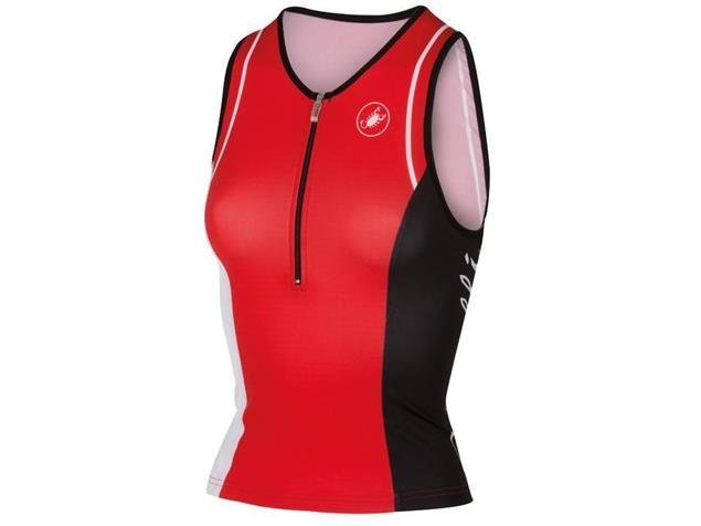 Castelli Core Women Tri Singlet - XS red/white