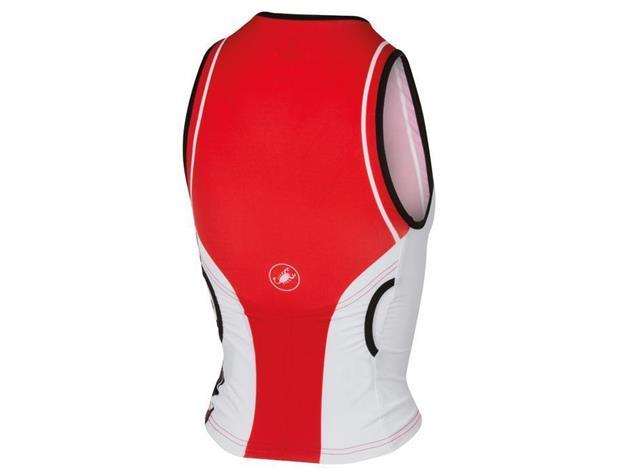 Castelli Core Women Tri Singlet - L red/white