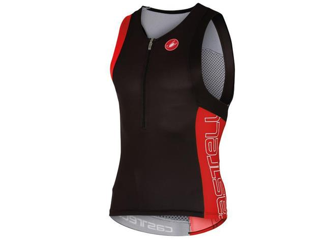 Castelli Free Tri Top - L black/red