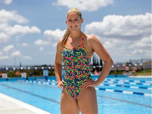 Funkita Clockwork Orange Ladies Badeanzug Diamond Back - 36 (10)