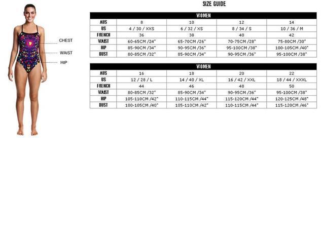Funkita Ruby Racer Ladies Badeanzug Single Strap - 38 (12)