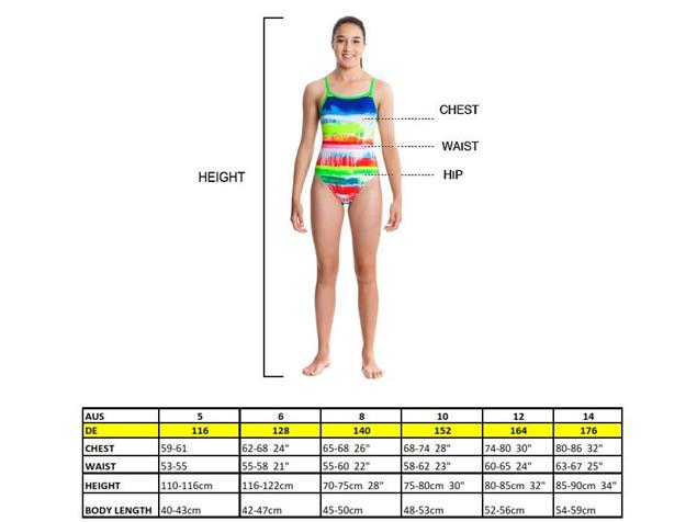 Funkita Clockwork Orange Girls Badeanzug Diamond Back - 152 (10)