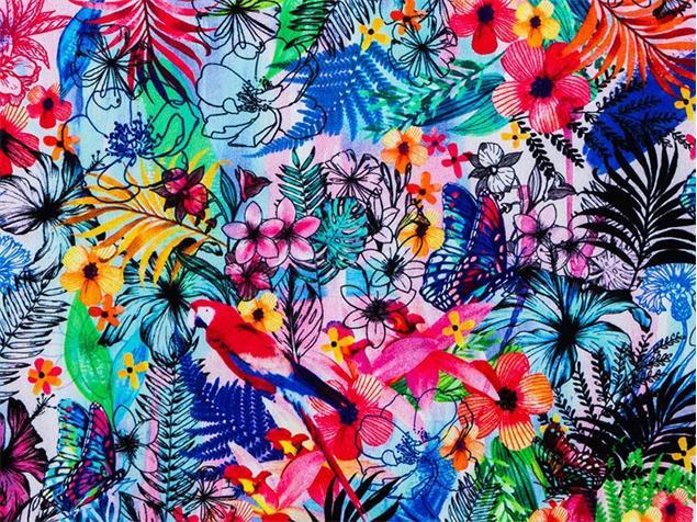 Funkita Blossom Paradise Girls Schwimmbikini Criss Cross - 140 (8)