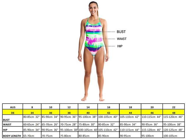 Funkita Lightspeed Ladies Schwimmbikini Sports Top + Sports Brief - 36 (10)