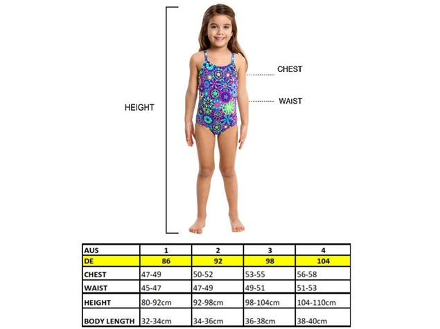 Funkita Juicy Lucy Toddler Girls Badeanzug - 128 (6)