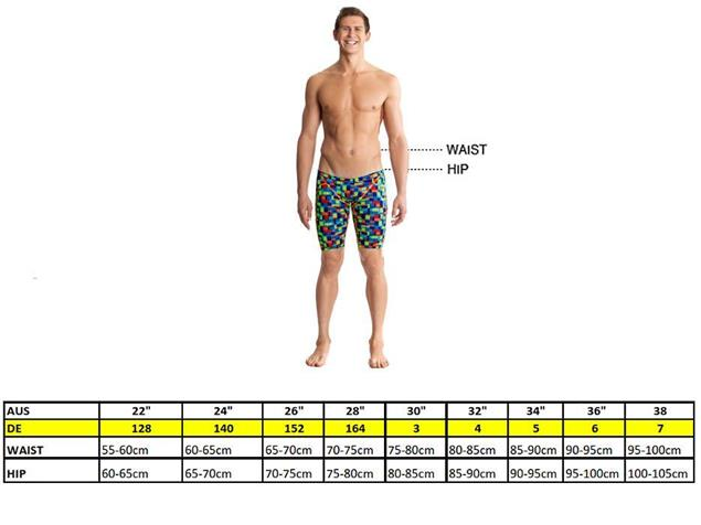 Funky Trunks Stroke Rate Mens Jammer - 5 (34)