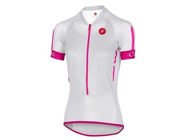 Castelli Climbers Women Trikot kurzarm - S white/raspberry