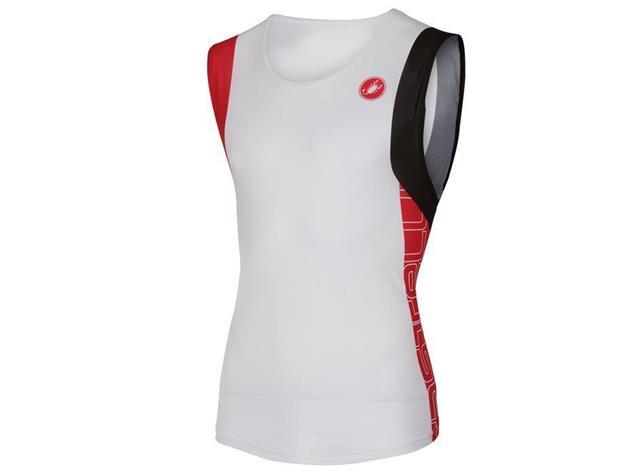 Castelli T.O. Allii Run Top - M white/red