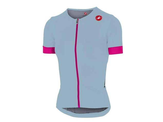 Castelli Free Speed Race Women Trikot kurzarm - S pale blue/pink fluo