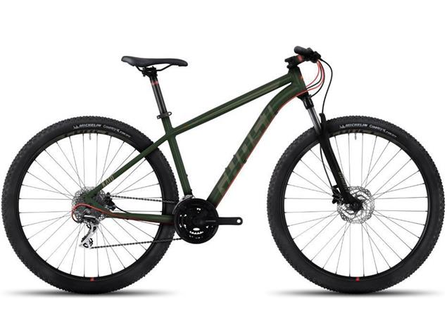 """Ghost Kato 2 29"""" Mountainbike - L forest green/army green/red"""