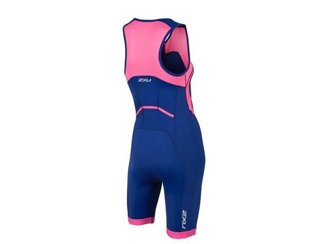 2XU Active Women Trisuit Einteiler WT4371d - XS fandango pink/navy