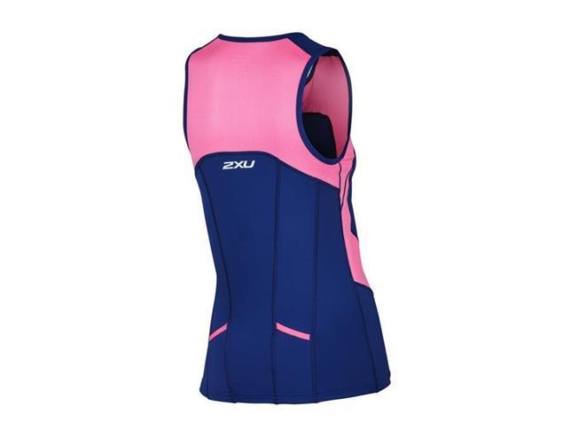 2XU Active Women Tri Singlet WT4372a - XS fandango pink/navy