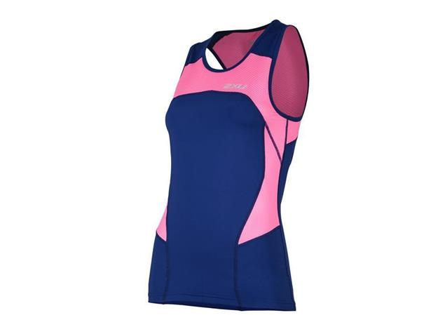 2XU Active Women Tri Singlet WT4372a - L fandango pink/navy