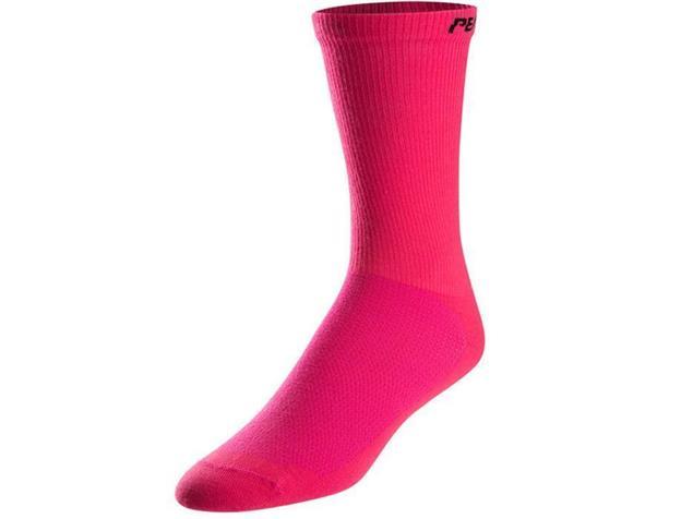 Pearl Izumi Attack Tall Socken - L screaming pink