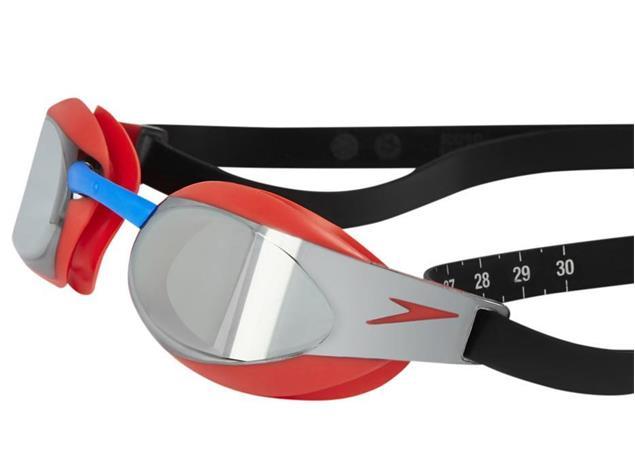 Speedo Fastskin Elite 3 Mirror Schwimmbrille lava red/silver
