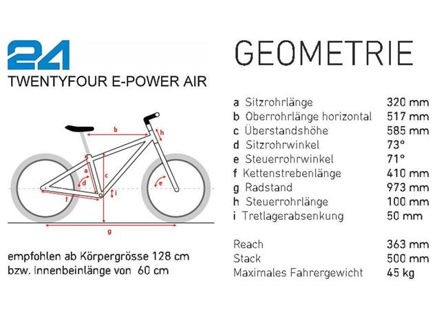 ben-e-bike Twentyfour E-Power Mountainbike inkl. 250WH Akku